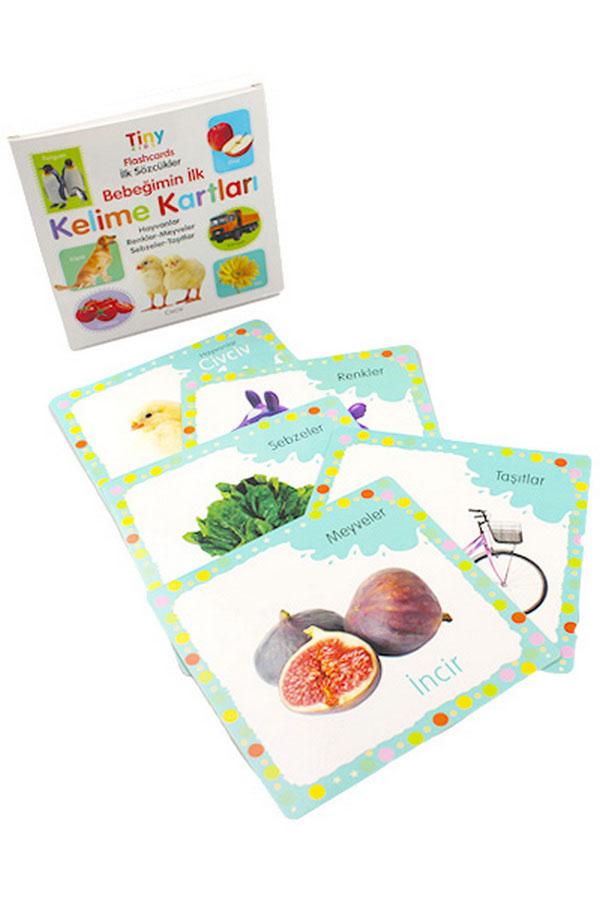 0-3 Yaş Bebek Zeka ve Eğitici Kartlar Seti 4 Adet - Tiny Kids