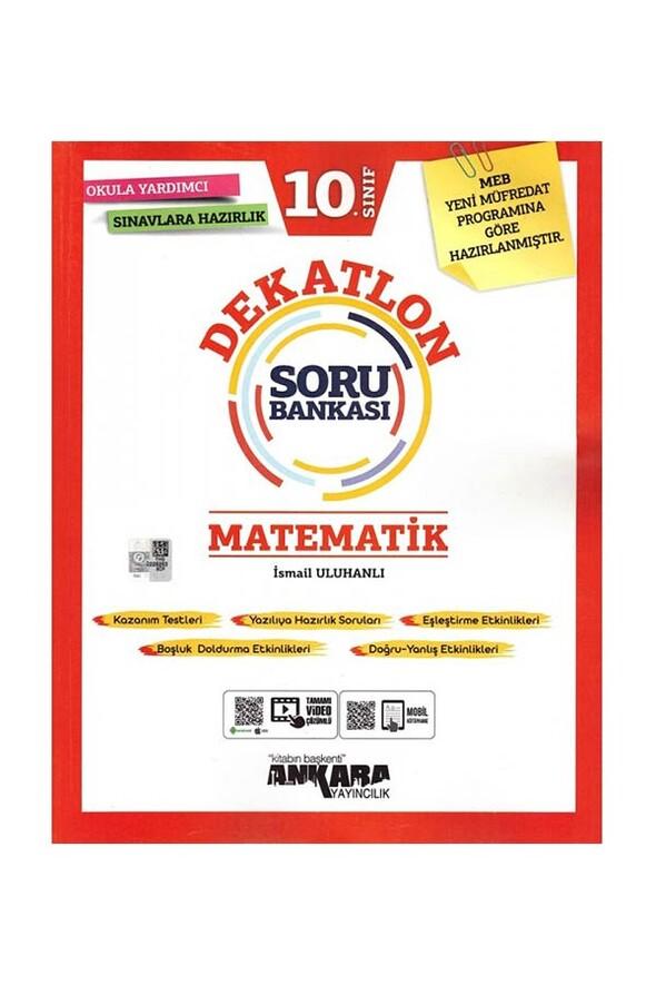 10. Sınıf Matematik Dekatlon Soru Bankası Ankara Yayıncılık