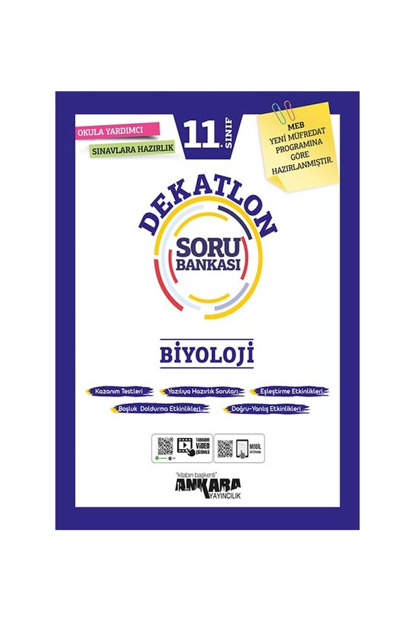 11. Sınıf Biyoloji Dekatlon Soru Bankası Ankara Yayıncılık