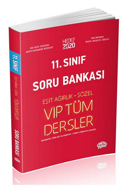 11. Sınıf VIP Tüm Dersler (Eşit Ağırlık-Sözel) Soru Bankası Kırmızı Kitap