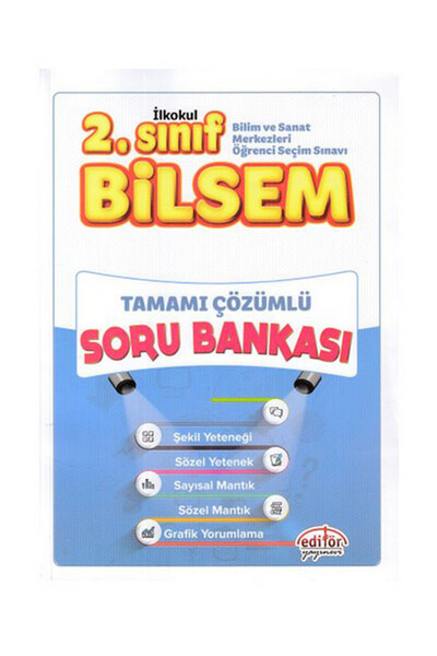 2. Sınıf Bilsem Çözümlü Soru Bankası - Editör Yayınları
