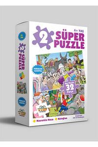 0-6 Yaş Yayınları - 2 Süper Puzzle - Nasrettin Hoca ve Keloğlan 4 Yaş ve Üzeri - 0 6 Yaş Yayınları