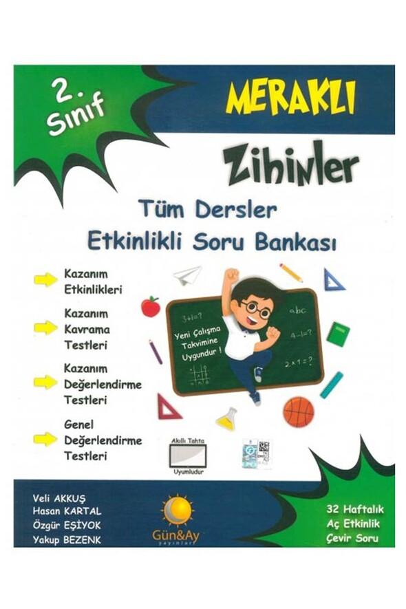 2.Sınıf Meraklı Zihinler Tüm Dersler Etkinlikli Soru Bankası Günay Yayınları