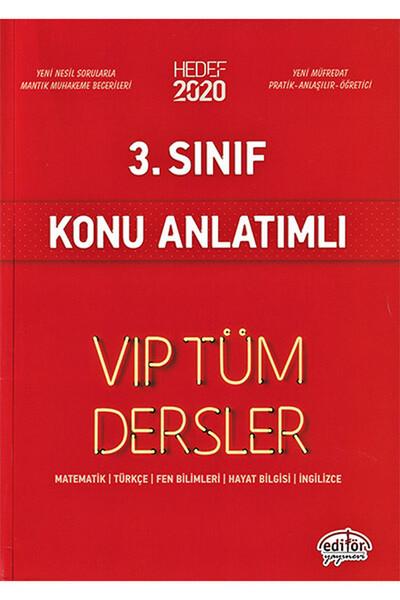 3. Sınıf VIP Tüm Dersler Konu Anlatımlı - Editör Yayınevi
