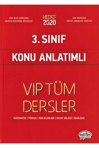 Editör Yayınevi - 3. Sınıf VIP Tüm Dersler Konu Anlatımlı - Editör Yayınevi