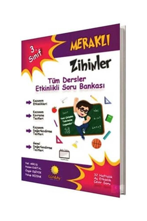 3.Sınıf Meraklı Zihinler Tüm Dersler Etkinlikli Soru Bankası Günay Yayınları