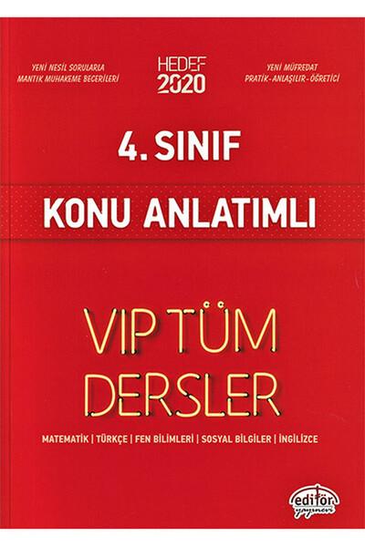 4. Sınıf VIP Tüm Dersler Konu Anlatımlı - Editör Yayınevi