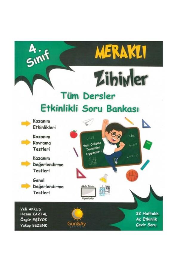 4.Sınıf Meraklı Zihinler Tüm Dersler Etkinlikli Soru Bankası Günay Yayınları
