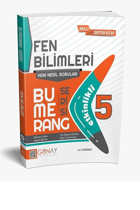 5. Sınıf Bumerang Serisi Fen Bilimleri Soru Bankası Günay Yayınları
