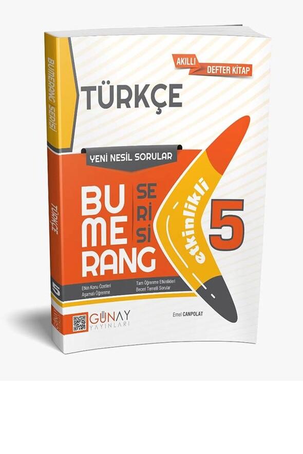5. Sınıf Bumerang Serisi Türkçe Soru Bankası Günay Yayınları
