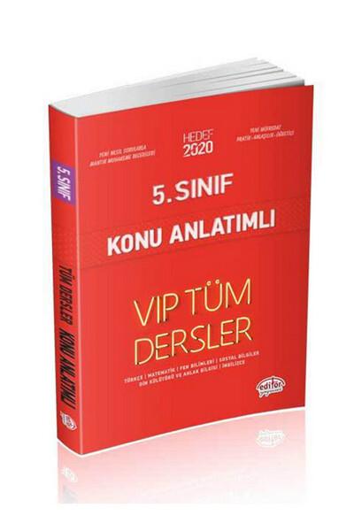 5. Sınıf VIP Tüm Dersler Konu Anlatımlı - Editör Yayınevi
