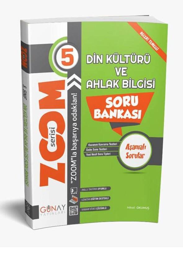5. Sınıf Zoom Serisi Din Kültürü ve Ahlak Bilgisi Soru Bankası Günay Yayınları