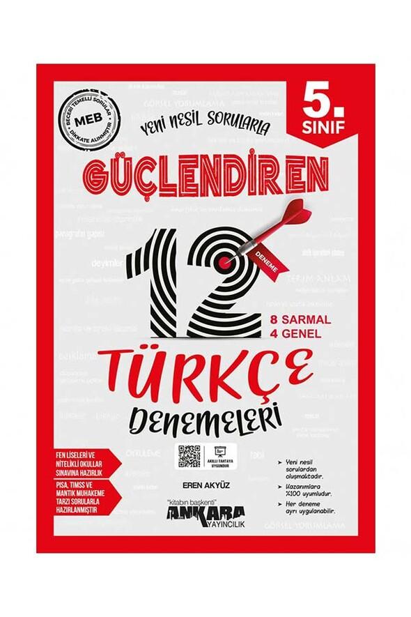 5. Sınıf Güçlendiren Türkçe 12 Deneme Sınavı Ankara Yayıncılık
