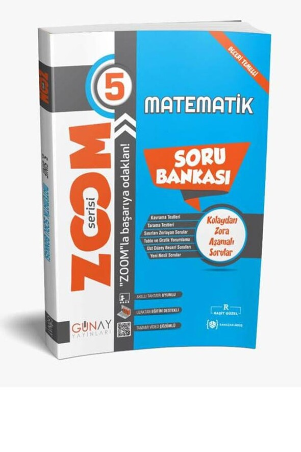 5.Sınıf Matematik Zoom Soru Bankası Günay Yayınları