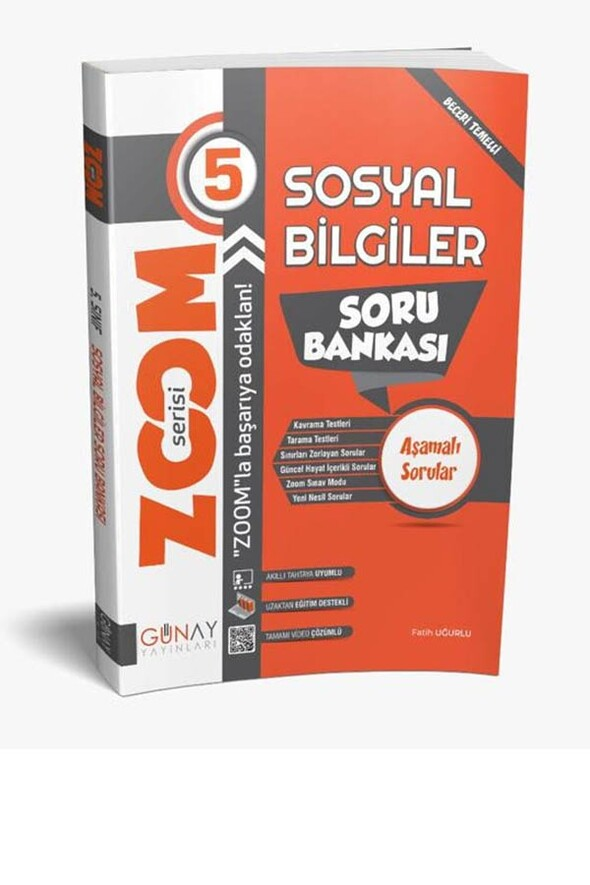 5.Sınıf Sosyal Bilimler Zoom Soru Bankası Günay Yayınları