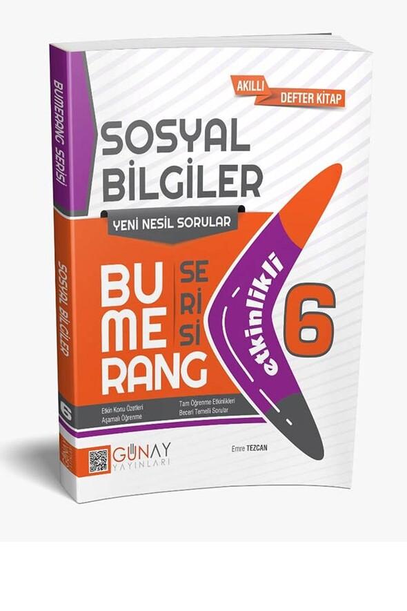 6. Sınıf Bumerang Serisi Sosyal Bilimler Soru Bankası Günay Yayınları