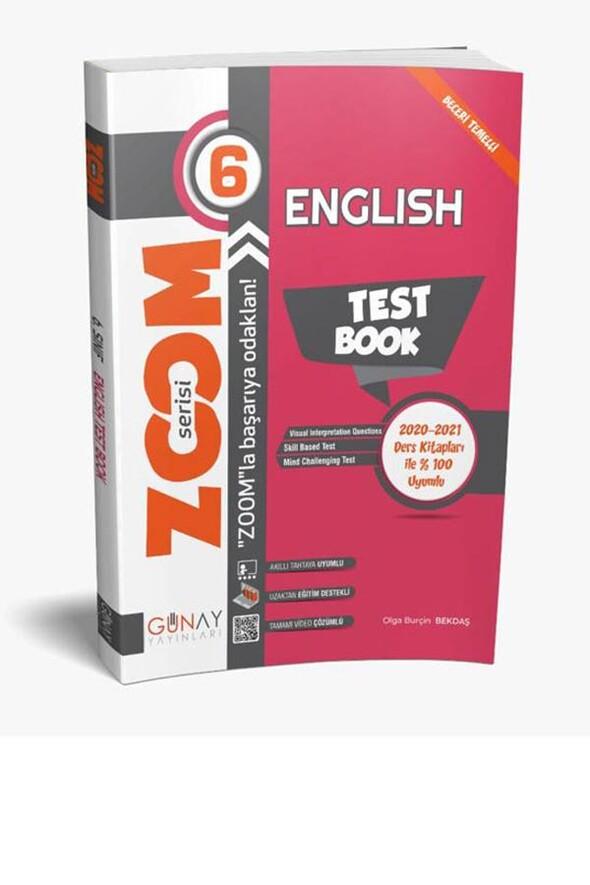 6. Sınıf İngilizce English Test Book Zoom Serisi Soru Bankası Günay Yayınları
