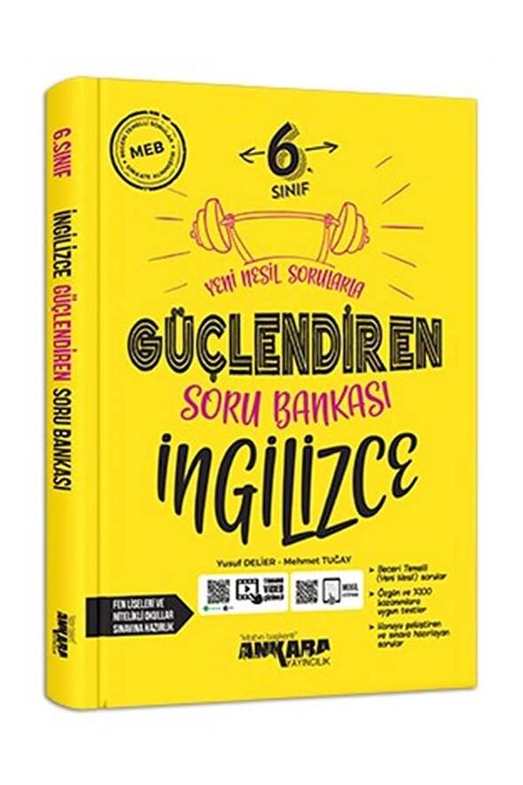 6. Sınıf İngilizce Güçlendiren Soru Bankası Ankara Yayıncılık