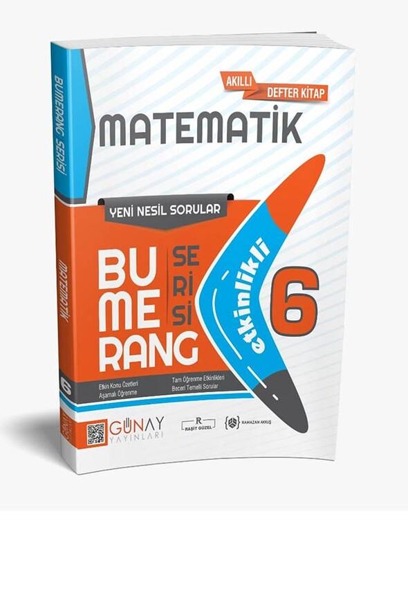 6. Sınıf Matematik Etkinlikli Bumerang Serisi Günay Yayınları
