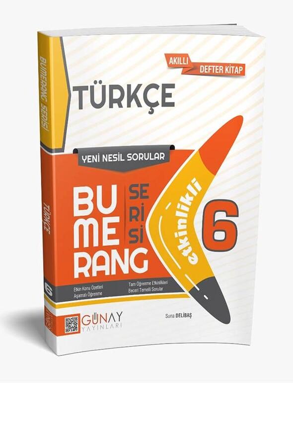 6. Sınıf Türkçe Etkinlikli Bumerang Serisi Günay Yayınları