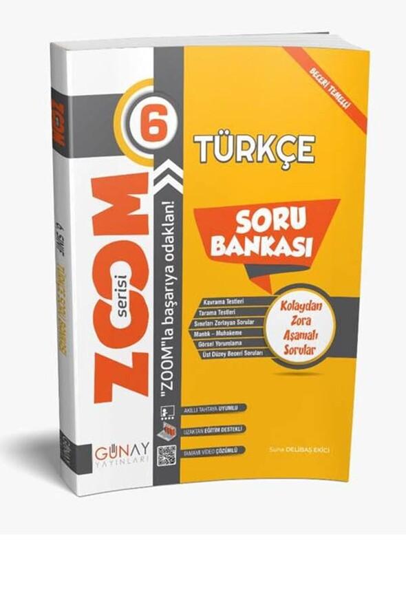 6.Sınıf Türkçe Zoom Soru Bankası Günay Yayınları