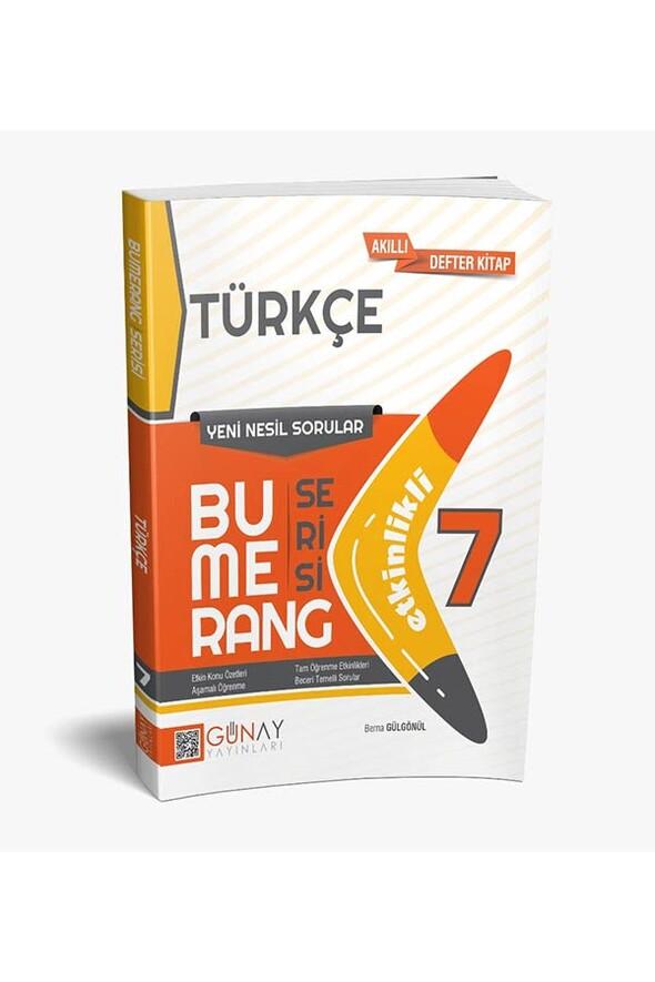 7. Sınıf Türkçe Etkinlikli Bumerang Serisi Günay Yayınları