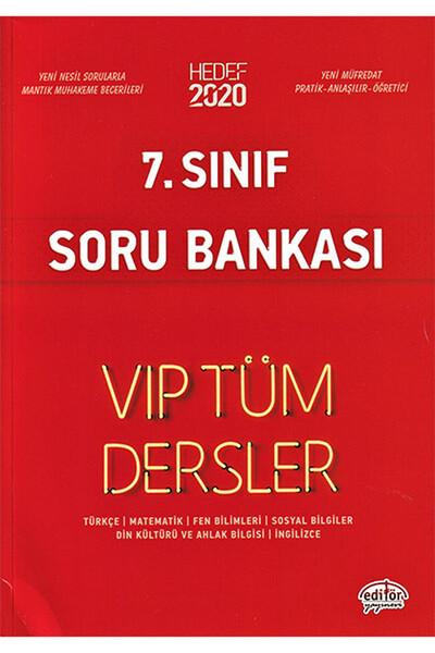 7. Sınıf VIP Tüm Dersler Etkinliklerle Soru Bankası - Editör Yayınevi