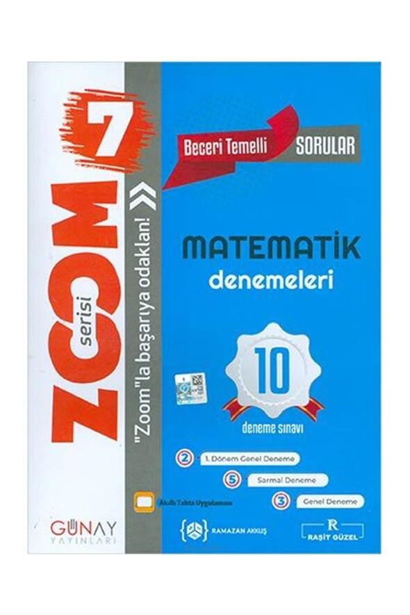7. Sınıf Zoom Matematik 10 lu Deneme Sınavı Günay Yayınları