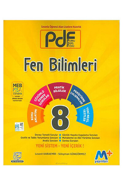 8. Sınıf Fen Bilimleri PDF Planlı Ders Föyü - Martı Okul Yayınları