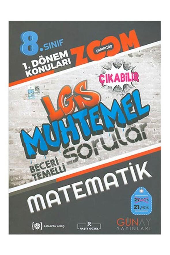 8. Sınıf LGS 1. Dönem Matematik Muhtemel Sorular Zoom Serisi Günay Yayınları
