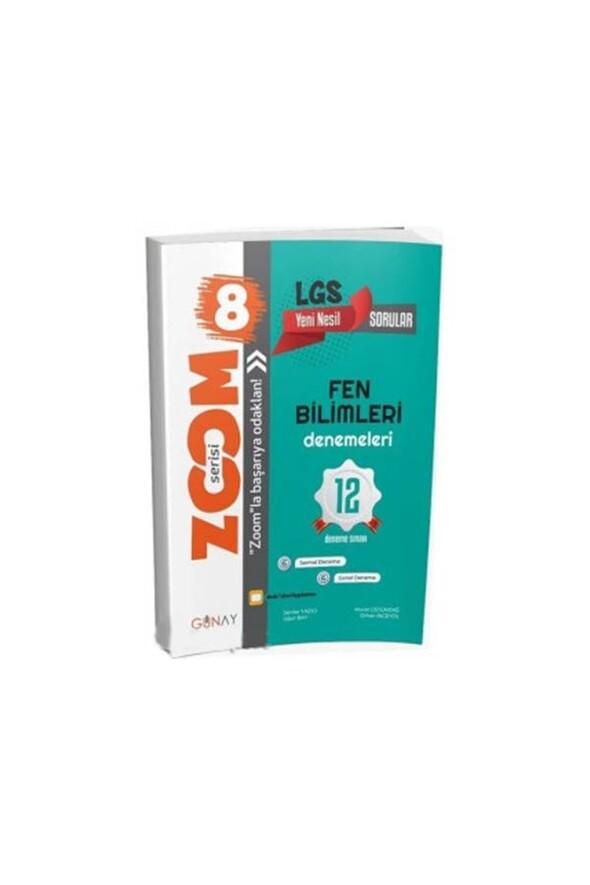8. Sınıf LGS Zoom Fen Bilimleri 12 li Deneme Sınavı Günay Yayınları