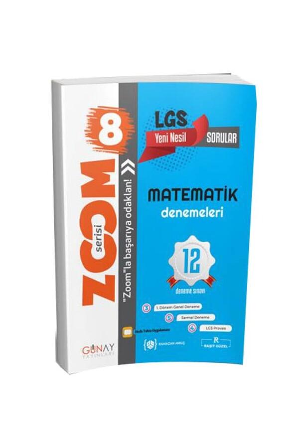 8. Sınıf LGS Zoom Matematik 12 li Deneme Sınavı Günay Yayınları