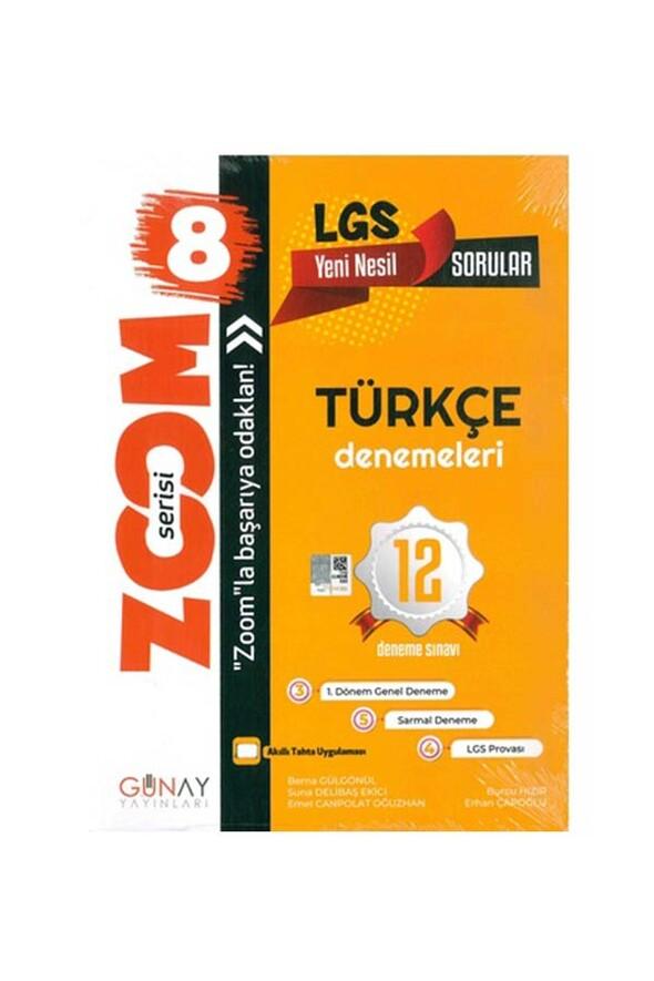8. Sınıf LGS Zoom Türkçe 12 li Deneme Sınavı Günay Yayınları