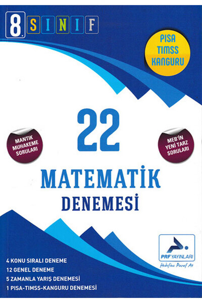 8. Sınıf Matematik 22 Denemesi - Prf Paraf Yayınları