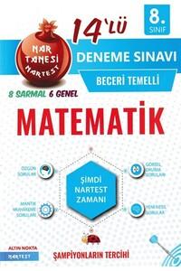 Nartest Yayınları - 8. Sınıf Matematik Nar Tanesi 14 lü Deneme Sınavı - Nartest Yayınları