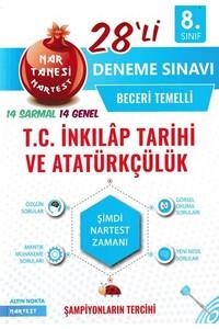 Nartest Yayınları - 8. Sınıf Nar Tanesi T.C. İnkılap Tarihi Ve Atatürkçülük 28 li Deneme Sınavı - Nartest Yayınları