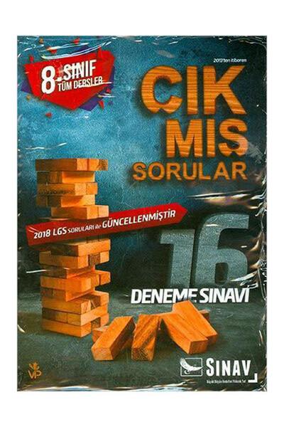 8. Sınıf Tüm Dersler Çıkmış Sorularla 16 Deneme - Sınav Dergisi Yayınları