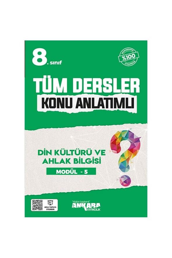 8. Sınıf Tüm Dersler Konu Anlatımlı Din Kültürü ve Ahlak Bilgisi Modül 5 Ankara Yayıncılık
