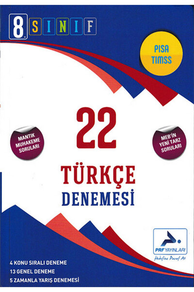 8. Sınıf Türkçe 22 Denemesi - Prf Paraf Yayınları