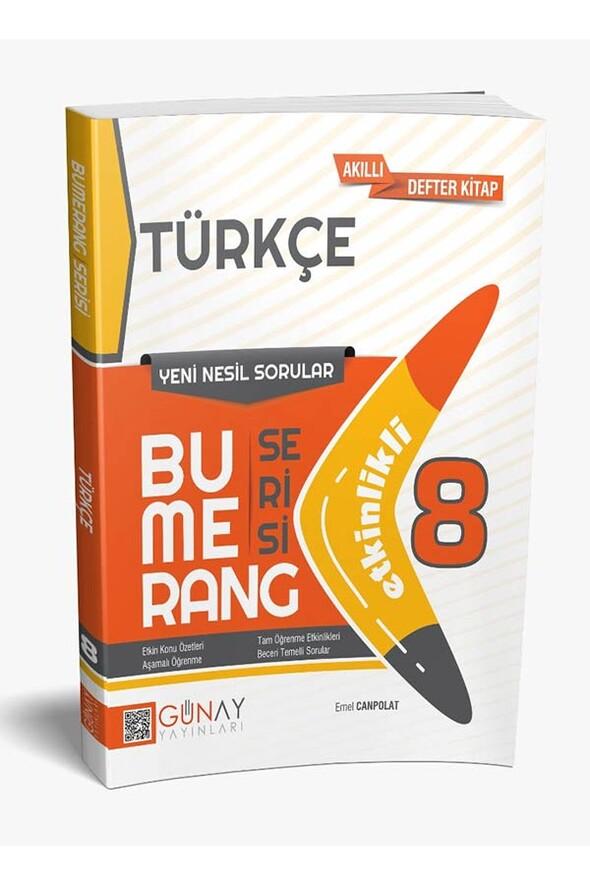 8. Sınıf Türkçe Etkinlikli Bumerang Serisi Günay Yayınları