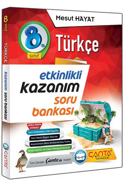 8. Sınıf Türkçe Etkinlikli Kazanım Soru Bankası - Çanta Yayınları
