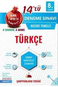 Nartest Yayınları - 8. Sınıf Türkçe Nar Tanesi 14 lü Deneme Sınavı - Nartest Yayınları
