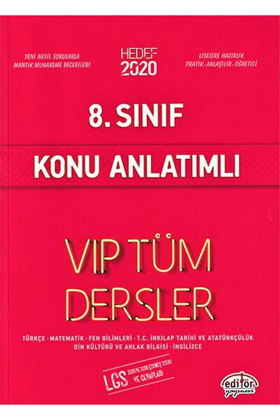 8. Sınıf VIP Tüm Dersler Konu Anlatımlı - Editör Yayınevi