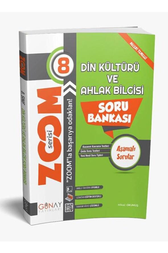 8.Sınıf Din Kültürü ve Ahlak Bilgisi Zoom Soru Bankası Günay Yayınları