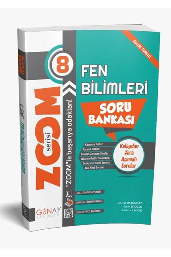 8.Sınıf LGS Fen Bilimleri Zoom Serisi Soru Bankası Günay Yayınları