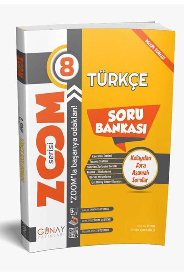 8.Sınıf LGS Türkçe Zoom Serisi Soru Bankası Günay Yayınları