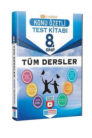 Evrensel İletişim Yayınları - 8.Sınıf Tüm Dersler Konu Özetli Video Çözümlü Test Kitabı - Evrensel İletişim Yayınları