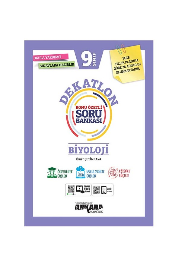 9. Sınıf Dekatlon Biyoloji Konu Özetli Soru Bankası Ankara Yayıncılık