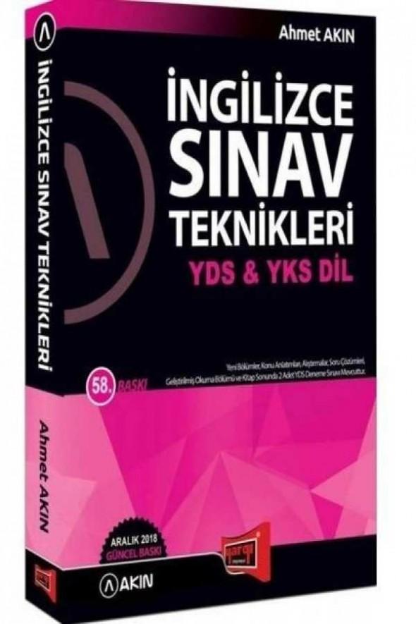 Akın Dil & Yargı Yayınları YDS & YKS DİL İngilizce Sınav Teknikleri 58. Baskı