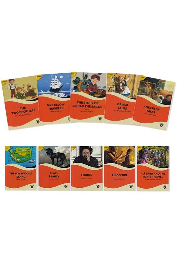 Alıştırmalı İngilizce Hikaye Seti Stage 1 - 10 Kitap